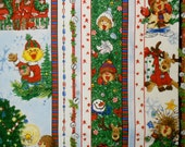 Suzy's Zoo Christmas Striped Fabric