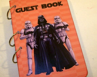 Guest Book, Star Wars Party, Baby Shower Guest Book, Sign in Book, Birthday Autograph Book, Star Wars Birthday