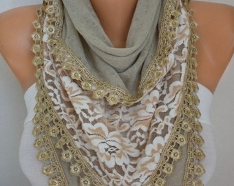 Beige Knitted Scarf,Shawl, Winter Scarf,Cowl  Bridesmaid Bridal Accessories Gift Ideas For Her Women Fashion Accessories Best selling item