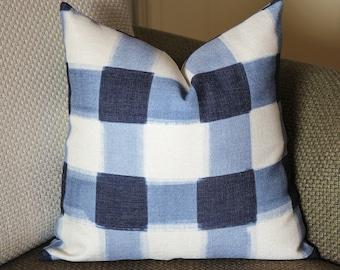 Pillows,blue pillow,Caitlin Wilson Pillow, Buffalo Check Pillow, Throw Pillows, High End Geometric Pillows, Pillow Covers 388