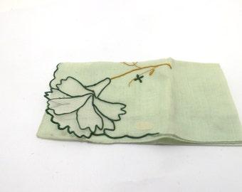 Green flower handkerchief, Maderia Portugal