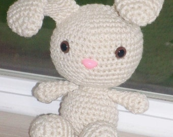 Cute Spring Bunny - Vanilla Crochet Bunny Doll (Finished Doll)