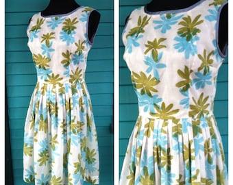 60's Party Dress - Flower Burst