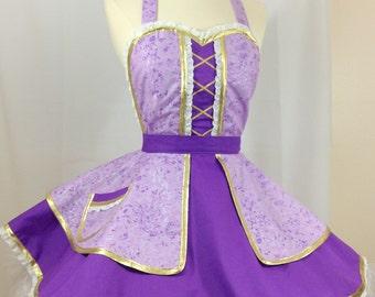 Rapunzel Tangled Pin Up Apron, Halloween Costume, Disneybound, Woman's Apron