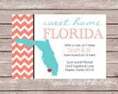 Sweet Home Florida {or your state!}-Change of Address Card/Moving Announcement Card, 4x6