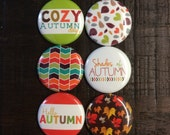 Fall Autumn Leaves Cozy Flair Buttons