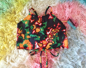 Psychedelic Trip Halter Top by Frolic Design