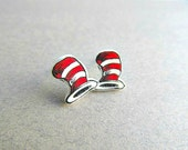 Dr. Seuss Stud Earrings MATTE Finish cat in the hat, dr. seuss birthday, teacher earrings