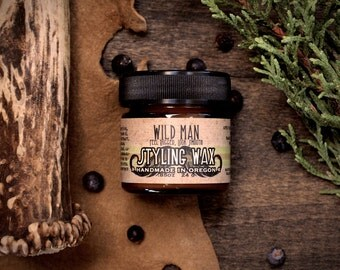 Wild Man Mustache Styling Wax - The Original - 24g // .85oz - Grooming Gift for Him