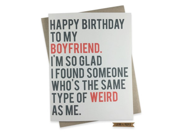 Funny boyfriend birthday card boyfriend 39 s birthday for What should i do for my boyfriends birthday