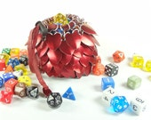 Dungeons & Dragons Dice Bag Red Scalemaille And Chainmaille Aluminum - TMDB-S-R-02