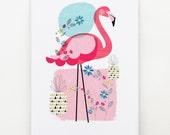 Pretty Flamingo, print, Ellen Giggenbach