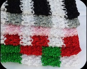 "Striped 12"", 10"", 9"" / 8'', 6"", 2.75'', 1.5"" crochet tube tops tutu headband black white silver red green Christmas shades"
