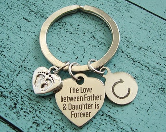 new dad gift, from daughter, gift for dad, gift for men him, fathers day from daughter, daddy keychain, fathers day gift from daughter