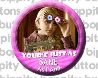 "Luna Lovegood Harry Potter 3"" Button"