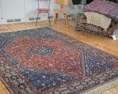RESERVED 7x9.5 Vintage Shiraz Carpet