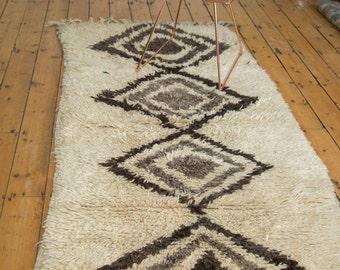 3.5x7.5 Vintage Moroccan Rug Runner
