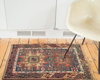 2.5x3.5 Antique Caucasian Rug Mat