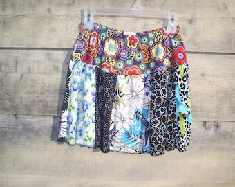 Upcycled, recycled, repurposed, T shirt skirt 26-32 waist.