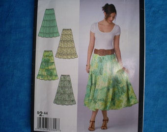 Simplicity 2412 Size Misses 8-18 Ruffle Skirts.
