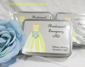 Bridesmaids Gift- Bridesmaids Emergency kits- Wedding party Gifts --order for everyone!