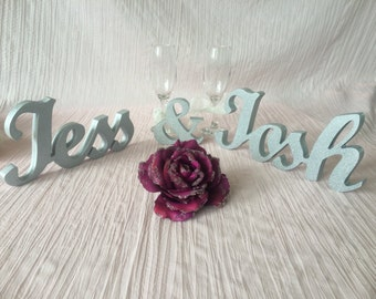 Personalized name Sign wedding  table decoration. Personalized sign Bride and Groom Names, Wedding table signs, Photo Props wedding signs.