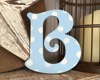 Wooden Wall Letter - Hand-Painted - Victorian Font - B, Various colours and finishes available
