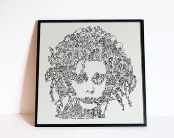 Edward Scissorhands Johnny Depp - Biographical Portrait - Tim Burton movie poster - Ltd Edition of 100 - Fine Art Print