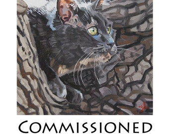 Commissioned Pet Portraits 8x8 sample