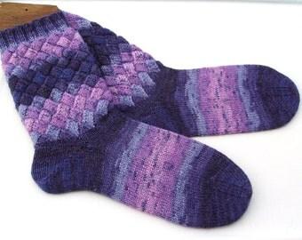 hand knit women's socks UK 5 - 6  US 7 - 9  38 -39 EU wool socks wool socks socks