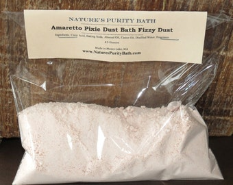 Amaretto Scented Pixie Dust Bath Fizzy Dust - Bath Bomb Powder