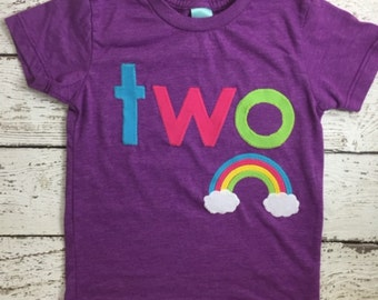 Rainbow shirt, Girl's birthday shirt, Rainbow Birthday Shirt, Rainbow party,  Organic tee, Colorful Birthday Shirt, customize any birthday