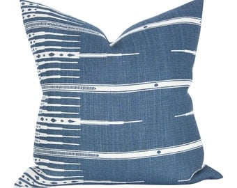 Tangiers pillow cover in Indigo/Natural