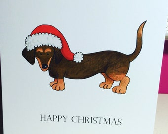 Dachshund Christmas Card Pack of 10