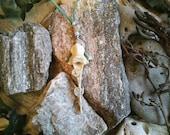 Fox Totem Vertabrae Pendant Necklace - Fox Totem spirit shaman druid witch witchcraft cunning folk amulet shapechanging