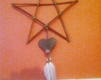 Pagan love star - valentines lupercalia lovers romance mobile hanger witchcraft wicca green