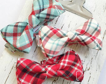 mens bowtie, plaid bow tie, red plaid bowtie, teal bow tie, red bow tie, preppy tie, first communion bowtie, communion gift, boys bowtie