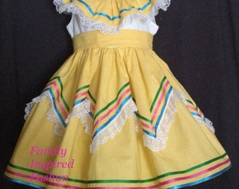 Cinco de Mayo dress, peasant dress, Spanish dress