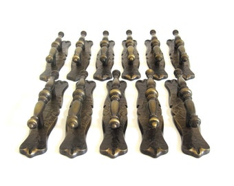 Amerock Carriage House Cabinet Handles Antique Brass Architectural Salvage 1970s Drawer Pulls Kitchen Cupboard Hardware