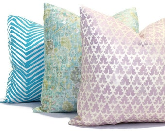 Quadrille Soft Lavender Volpi, Pillow Cover 18x18, 20x20, 22x22, 24x24 or Lumbar pillow, Accent Pillow, Throw Pillow, Toss Pillow Cushion