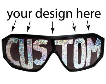 Rasslor Custom Word Shield Sunglasses