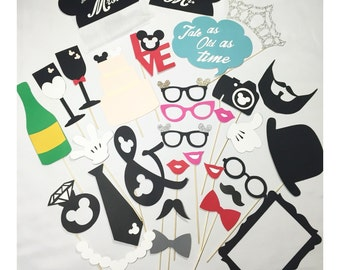 Wedding photo booth props Once Upon a Time *32pc