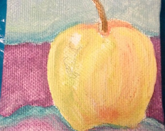 An Apple for the Teacher Stretched Canvas Acrylic Painting