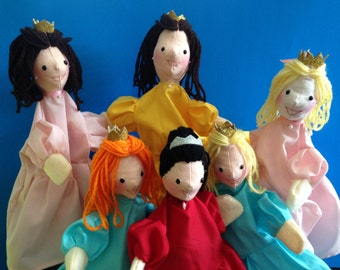 Hand Puppet for Children -- Customizable Princess Puppet -- Handmade Puppet