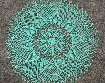 "New 30"" handmade crochet doily, table decoration"