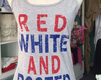 RED WHITE & BOOZED tank
