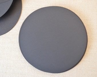 "6"" Black Circles Cardstock Lot of 25"