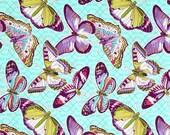 85005 - Michael Miller  - Aflutter in Aqua - Bazaar Emma's Garden Collection P56452 - 1 yard
