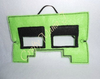 Minecraft Inspired Creeper Play Mask for Kids. Great for Pretend of Super Hero, Character, & Play Dress up Mask