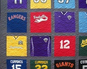 T-Shirt Quilt, 20 TShirt Quilt Traditional Block Style  (DEPOSIT)